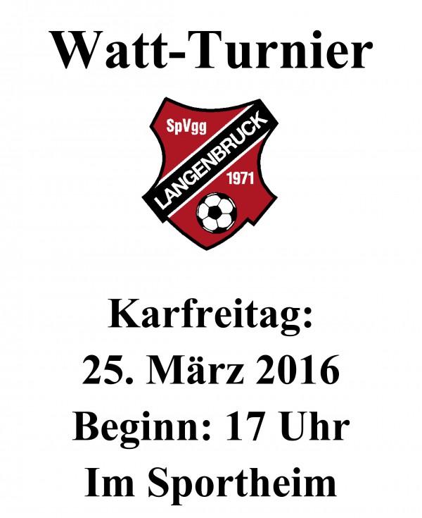 2016 Watt-Turnier-Plakat